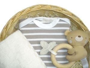 Cat and Fiddle Unisex Gift Baby Basket by Mulberry Organics
