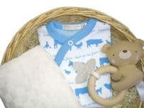 Little Star Boy Baby Gift Basket