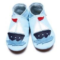 Sail Boat Blue Soft Leather Shoes