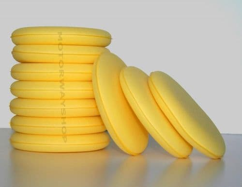 10 x Yellow Wax/Polish Applicator Pads