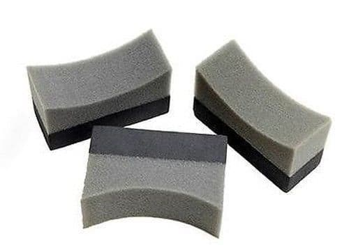 3 x Tyre Dressing Applicator Pads