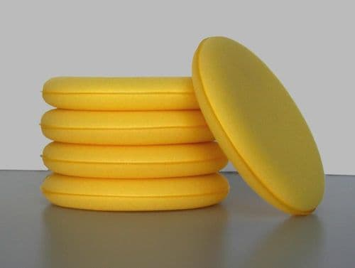 5 x Yellow Wax/Polish Applicator Pads Large