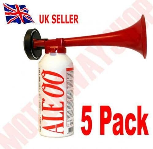 Hand Held Air Horn with Gas Cannister 5 Pack