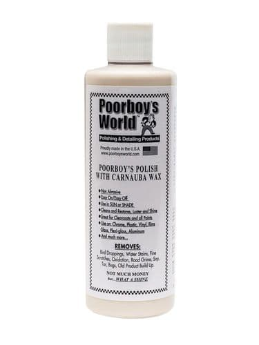 Poorboys World Polish With Carnauba Wax White 473ml