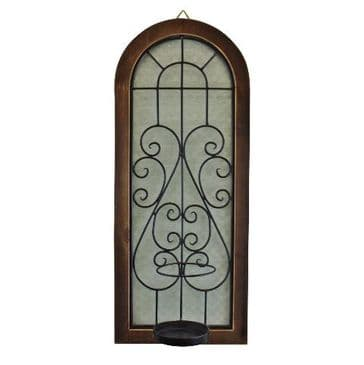 Arched Window Candle Wall Sconce