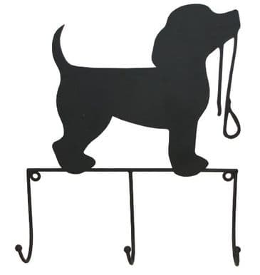 Dog And Lead Design Wall Hooks