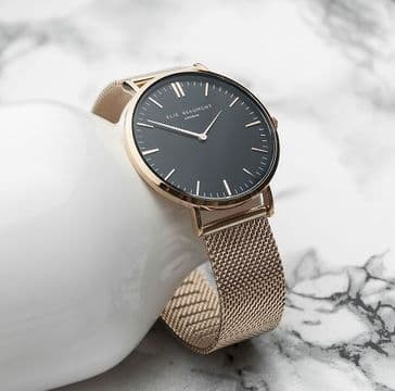 Ellie Beaumont Rose Gold Mesh Strap Watch