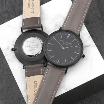 Men's Modern-Vintage Personalised Watch In Ash