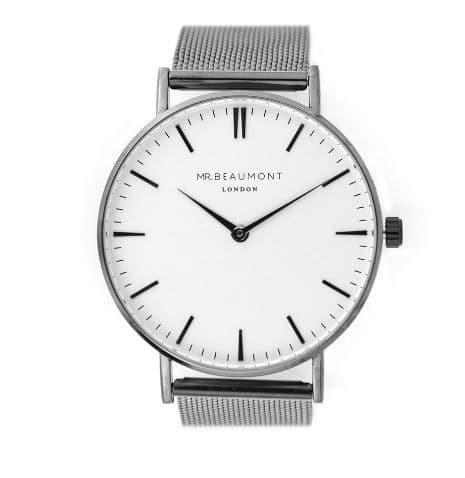 Men's Personalised Charcoal Grey Watch