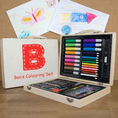 Personalised Children's Colouring Set In Carry Box