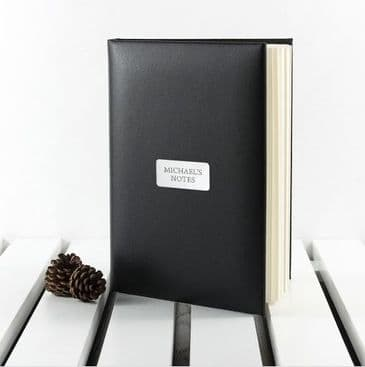 Personalised Luxury Italian Leather Note Book