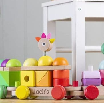 Personalised Multicoloured Giant Wooden Train