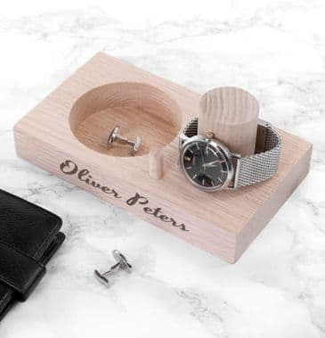 Personalised Solid Oak Watch Stand