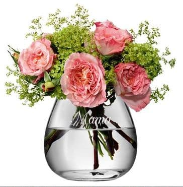Personalised Vase LSA Glass Hand Made