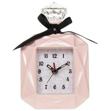 Pink Perfume Bottle Miniature Alarm Clock