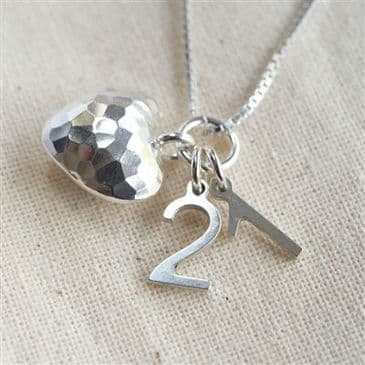 Sterling Silver Necklace With Milestone Charm