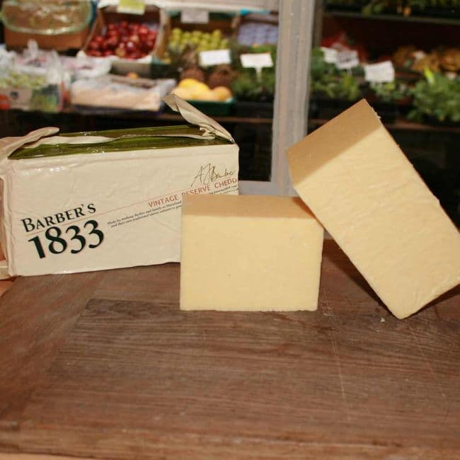Barbers Vintage Cheddar Cheese, Somerset Cheddar cheese