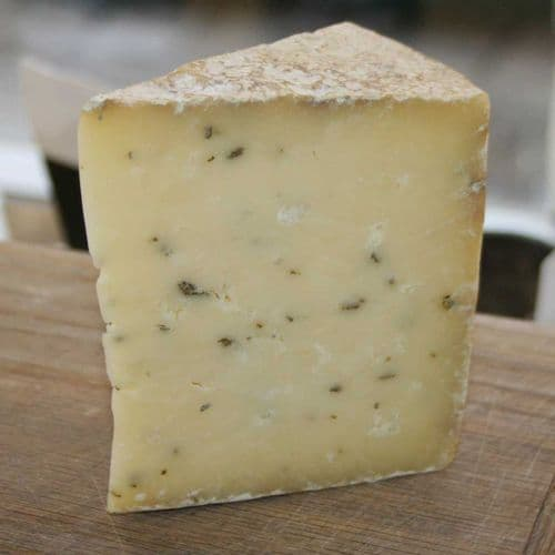 Hereford Sage Cheese, British artisan cheese with sage added