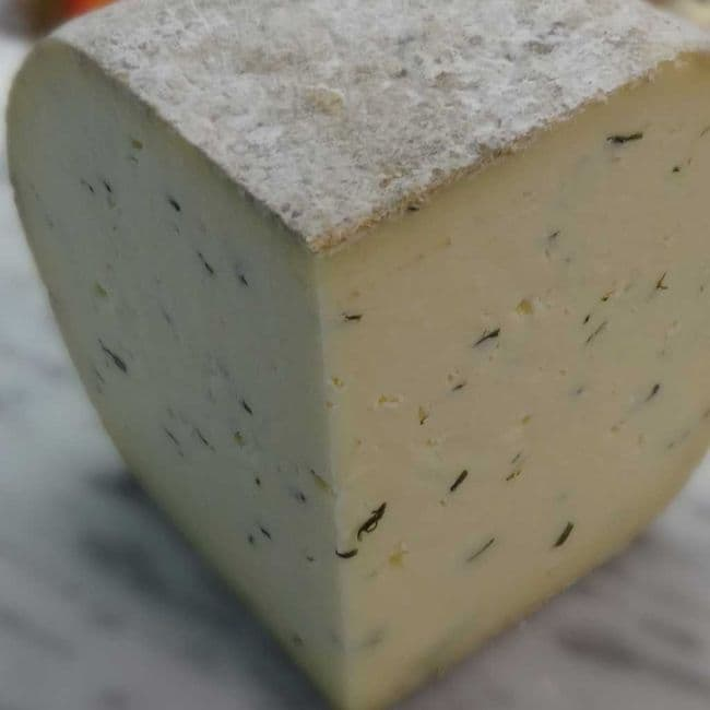 Monkland with Garlic and Chives Cheese, Artisan raw milk cheese