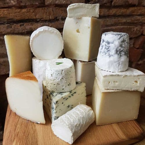 British Goat and Ewes milk cheese selection