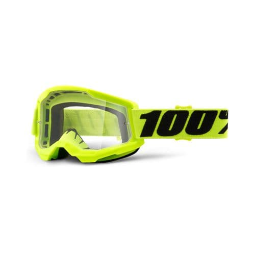 100% STRATA 2.0  Goggles YELLOW CLEAR LENS