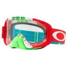Oakley O Frame 2.0 MX Goggle (Pinned Race Red/Green) Clear Lens