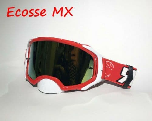 RIP N ROLL RNR PLATINUM MIRRORED TEAR OFF RED GOGGLES MOTOCROSS