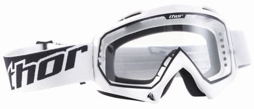 Thor White Enemy Kids Youth Goggles CLEAR LENS
