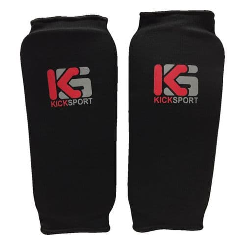 Kicksport Elasticated Shin Guards Black