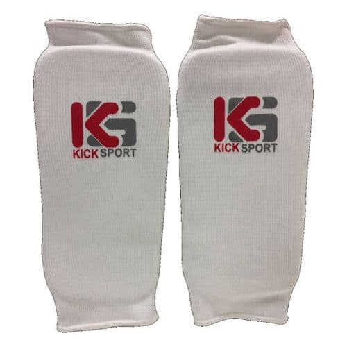 Kicksport Elasticated Shin Guards White