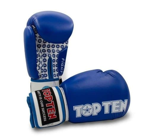 TOP TEN Fight Boxing Gloves Blue 10oz