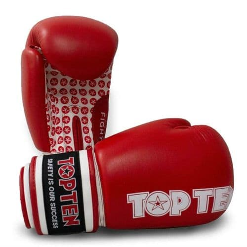 TOP TEN Fight Boxing Gloves Red 10oz