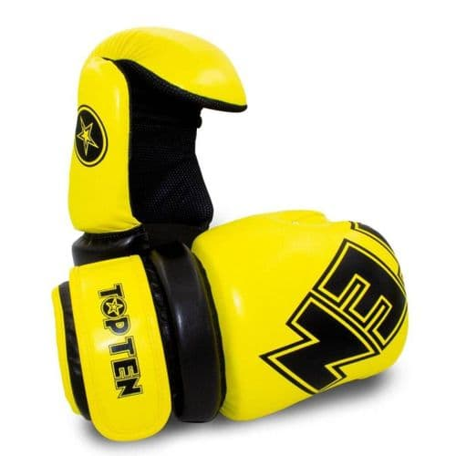 TOP TEN Glossy Block Pointfighter Gloves Yellow/Black