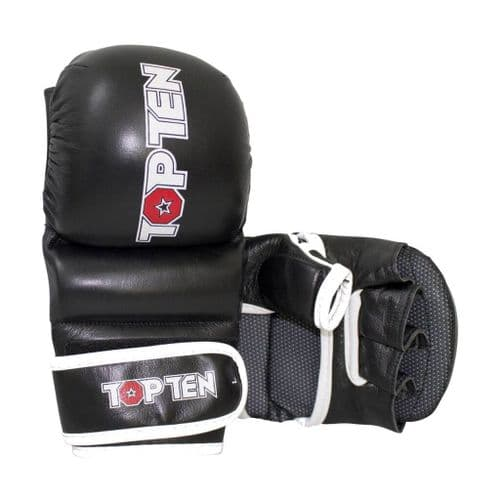 "TOP TEN MMA Sparring Gloves ""Thumb Guard"" Black"