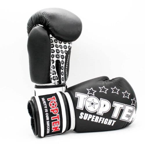 TOP TEN Superfight 3000 Boxing Gloves Black