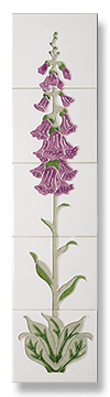 Foxglove Fireplace Tile Set - Lilac