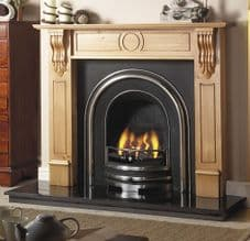 Plain Arched Insert & Pine Mantelpiece Fireplace Package