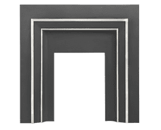 Square Fascia Cast-Iron Fireplace Insert