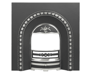 Tulip Arched Cast-Iron Fireplace Insert