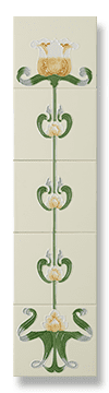 Tulip (Honey Yellow) Fireplace Tile Set - Tubeline Tiles