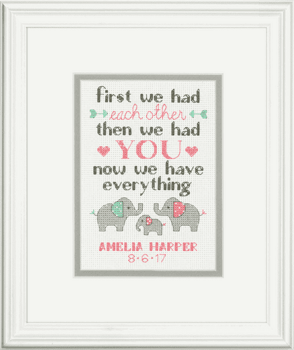 Dimensions Family Birth Record Counted Cross Stitch Kit