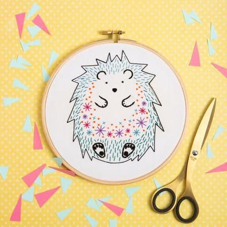 Hawthorn Handmade Hedgehog Contemporary Embroidery Kit