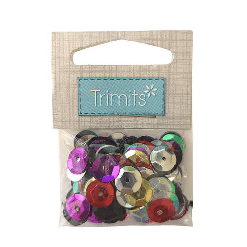 Multicoloured Craft Cup Sequins 8mm - 160 pack