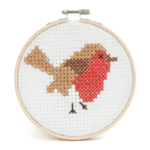 Trimits Robin Counted Cross Stitch Hoop Kit