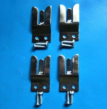 4 MICROPHONE HOLDER FORK CLIP - 2 WAY TAXI RADIO CB MC1