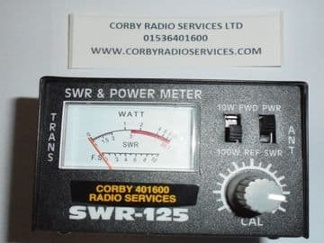 CB SWR 100 w POWER METER METAL CASE SMALL AND COMPACT 125