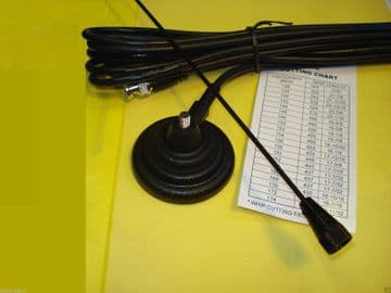 MAG MOUNT ANTENNA - BLACK DELUXE - BNC - FOR TAXI 162 -174 MHZ