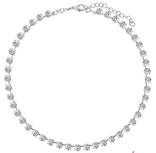 Necklace  with Swarovski Elements Crystals Clear