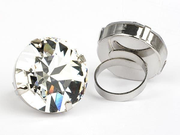 Ring  with Swarovski Element Crystal Clear