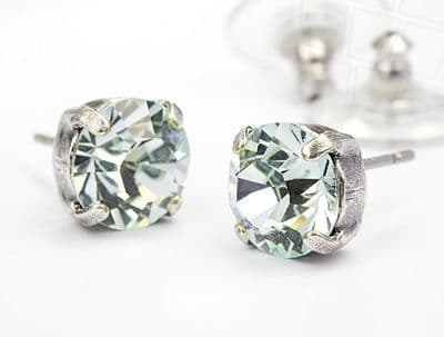 Stud Earrings  with Swarovski Elements Crystals Light Azore